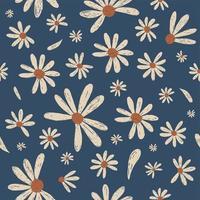 Daisy flower seamless pattern