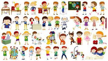 conjunto de personaje de dibujos animados de niños lindos