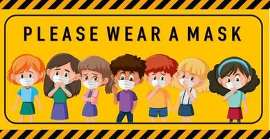 por favor use un cartel o pancarta de máscara vector