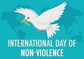 International day of non-violence banner vector