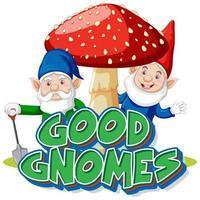 Good gnomes logo on white background vector