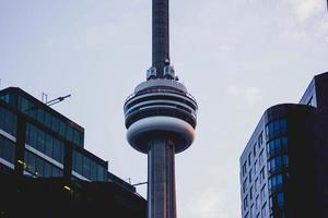 Toronto, Canada, 2020 - Evening view of CN Tower