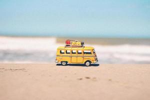 Miniature yellow van