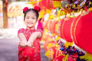 Asian girl in Chinese traditional dress