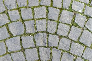Cubic stone pavement