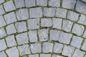 Decorative pavement from cubic stone