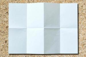 Isolated white paper background