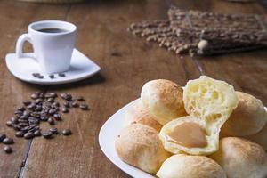 Pão de Queijo and coffee photo