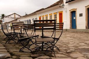 Outdoor Cafe in Parati, Brazil photo