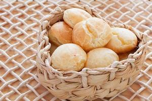 Brazilian snack cheese bread (pao de queijo) photo