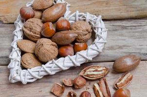 Hazelnuts, almonds  and  walnuts