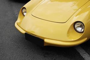 Yellow ancient car