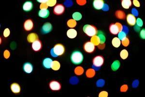 blurred christmas lights photo