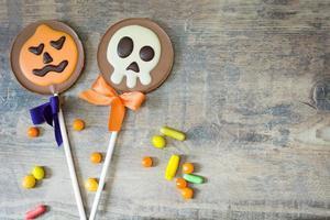 Halloween lollipops and candies photo