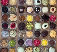 trufas y chocolates foto