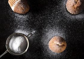 Sugar powdered madeleines photo