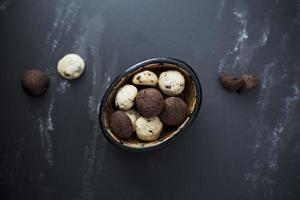 Cookies on black