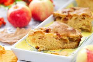 Apple pie and fresh apples
