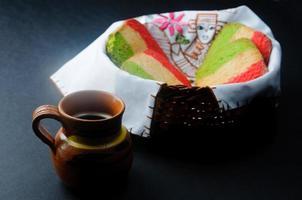 pan mexicano con cafe foto