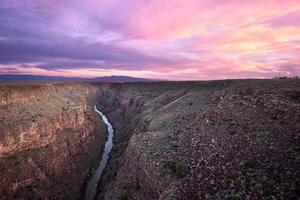 Sunset at the Rio Grande photo