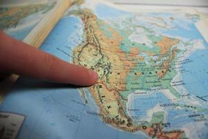 mapa de viaje foto