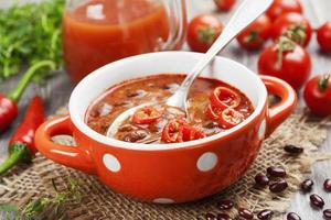 Soup with red bean photo