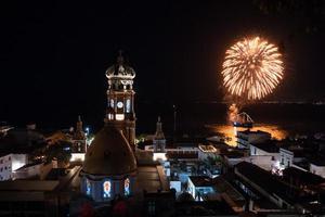 Nighttime fireworks, Puerto Vallarta, Mexico