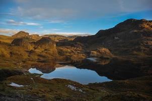 Beautiful view over El Cajas National Park, Ecuador photo