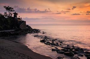 Sunset Pura Batu Bolong, Sengigi, Lombok, Indonesia photo