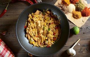Traditional indonesian meal bami goreng photo