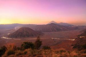 Bromo mountain in the morning, Indonesia photo