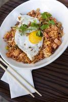 Rice, shrimp and egg