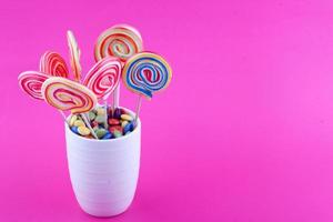 lollipops and sugar coated chocolate