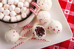 Brownie Peppermint Cake Pops