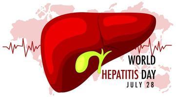 banner del día mundial de la hepatitis vector