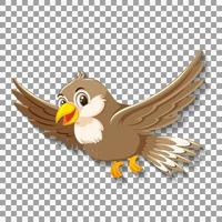 Sparrow bird cartoon character