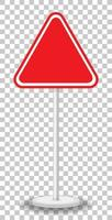 Empty red traffic sign isolated