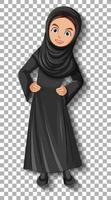hermosa dama árabe personaje de dibujos animados