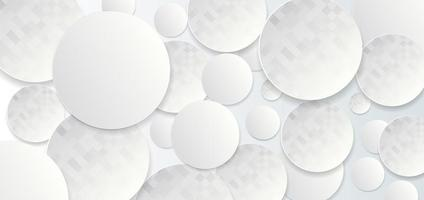 Abstract geometric template with white and grey circles vector
