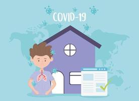 Man with Covid-19 symptoms banner