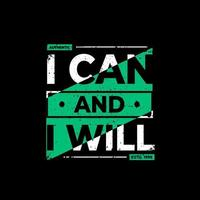 I can and I will black t-shirt design