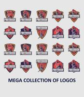 Bike logo template collection