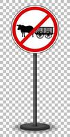 Red traffic sign isolated