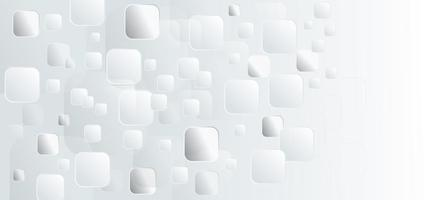 Abstract template white and grey squares vector