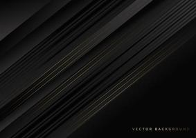Black and golden lines on black background vector