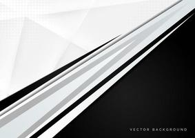 Abstract banner with black and grey geometric elements