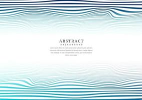 Abstract blue lines and wave stripes pattern vector