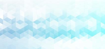Abstract banner with hexagon pattern vector