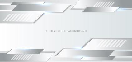 Fondo de tecnología con elementos blancos y grises.