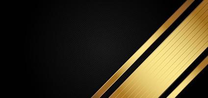 plantilla abstracta con fondo negro y dorado